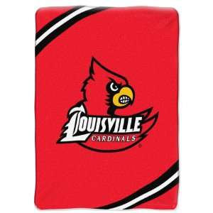 NCAA Louisville Cardinals FORCE 60x80 Super Plush Throw