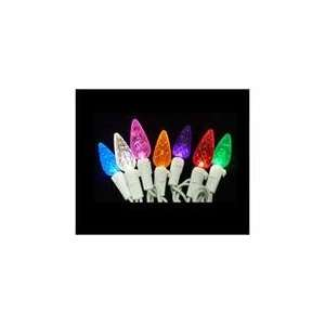 Multi Color LED C6 Christmas Lights   White Wire Patio, Lawn & Garden