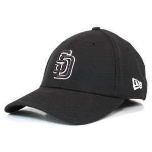 San Diego Padres Black and White Ace Hat Sports