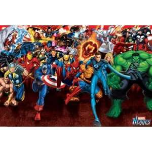 Marvel Superheroes Comic Book Hero Poster 24 x 36 inches