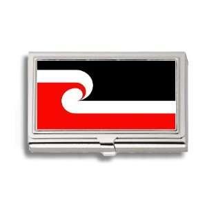 Maori New Zealand Flag Business Card Holder Metal Case