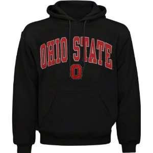 Ohio State Buckeyes Black Acid Washed Mascot Hooded