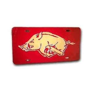 Arkansas Razorbacks Red Hog Mirror Tag: Sports & Outdoors