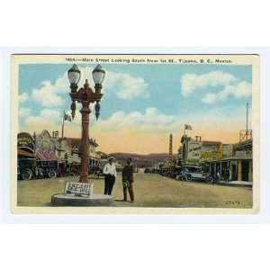 South from 1st Postcard Tijuana Mexico Baseball Sign