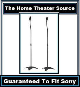 Two(1 Pair)2 Black Surround Sound Audio Speaker Stands Fits Sony Home