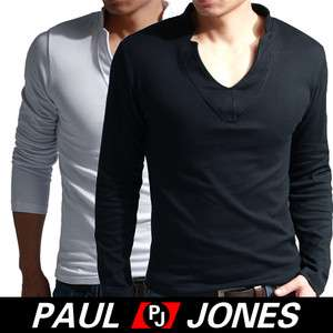Brand new mens Sexy V neck muscle slim fit T shirt basic Tees Tops