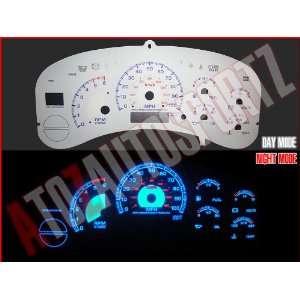 99 00 01 02 Chevy Silverado Truck BLUE INDIGLO GAUGES