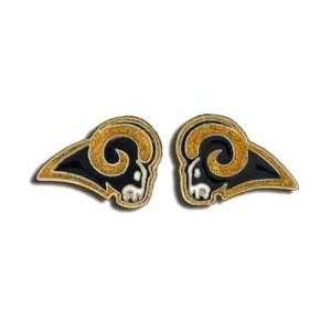 Studded NFL Earrings   St. Louis Rams