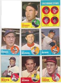 1963 Topps complete baseball set ExMt/NM   w/(23) PSA inc. Pete Rose