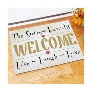 Personalized Live Laugh Love Family Doormat Patio, Lawn
