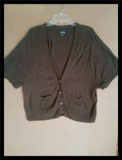 Sleeve Button Cardigan Sweater Light Weight Womens SZ XL APT 9