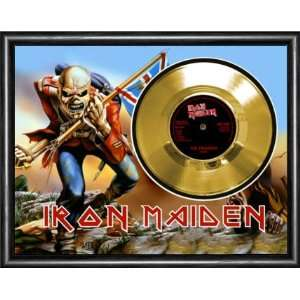 Iron Maiden The Trooper Framed Gold Record A3 Musical