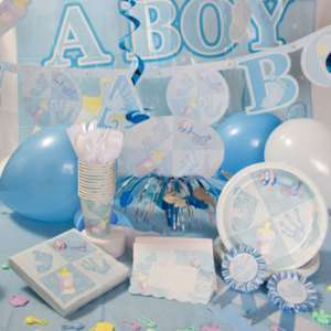Blue Its A Boy Baby Shower Party Supplies & Invitations