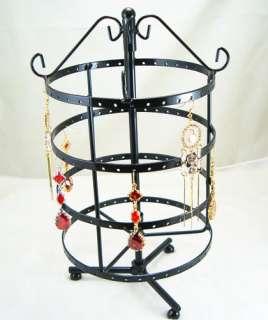 Black Jewelry Holder Display Rack For Earrings 72 Pair