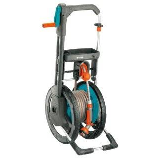 Gardena 2634 99 Foot Wheel Garden Hose Reel With Automatic Hose