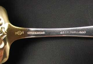 Frank W. Smith Sterling Silver Pie Server~JE Caldwell~Gold Washed