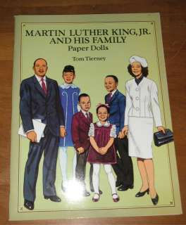 Tierney Martin Luther King Jr. & Family Paper Dolls Book Never Used