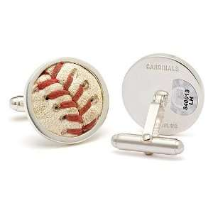 St. Louis Cardinals Game Used Baseball Cuff Links