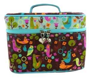 Birdsville by Fluff Cosmetic Make Up Train Case Bag