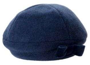 Janie and Jack Prima Ballerina Navy Blue Beret Hat Cap Wool Blend Fall