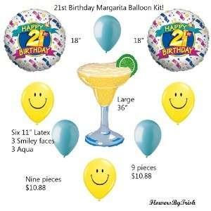 21ST BIRTHDAY Balloons party supplies Margarita 9 pcs