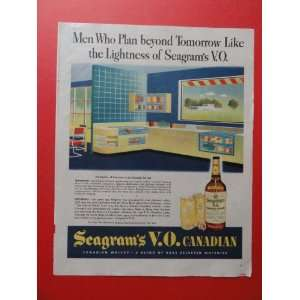 1944 seagrams V.O. Canadian Whiskey., print advertisement