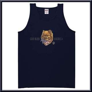 God Bless America Pomeranian Flag Shirt S 2X,3X,4X,5X