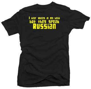 Russian Voices Funny CCCP USSR Communist New T shirt
