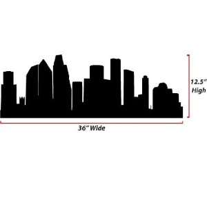 Houston Skyline Silhouette  Medium  Vinyl Wall Decal: Everything Else