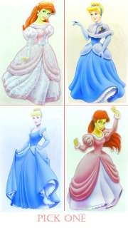 Princess Cinderella / Ariel removable window / wall sticker new