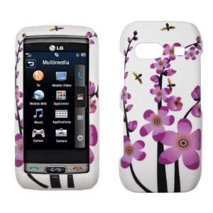 LG Vu Plus GR700   Pink and White Spring Flowers Design