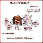 NEW American Girl FELICITYS COLONIAL CHINA TEA SET NIB