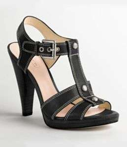 COACH Ginger Black Strappy Sandals NIB ++ Sizes Avail