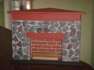 Dollhouse Minis ~ Handmade Corner Fireplace ~ Americana