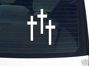 THREE CROSSES RELIGION JESUS GRAPHIC DECAL STICKER