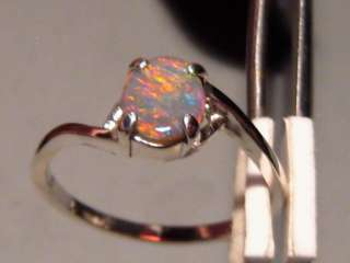 FIRE RED MULTI SOLID GEM AAA OPAL RING