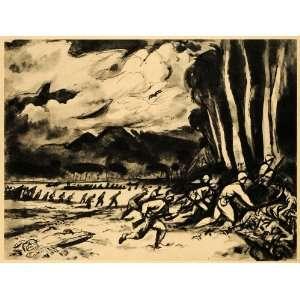 1944 Print Charles Shannon Assault Soldier World War II