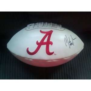 MARK INGRAM SIGNED AUTO AUTOGRAPHED ALABAMA CRIMSON TIDE LOGO FOOTBALL