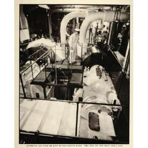 1934 Print Interior Engine Room Machine Santa Rosa Ship