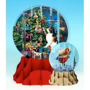 Christmas Greeting Card Pop up 3 d Snow Globe Christmas