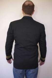 Vintage US NAVY Wool OFFICERS Brass Button Dress Blazer Sport COAT