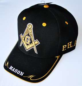 Prince Hall Masonic Baseball Cap Freemason Baseball Hat