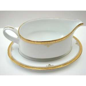 Noritake Fine China BUCKINGHAM GOLD #4346 GRAVY BOAT w