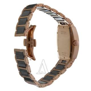 Wittnauer Stainless Steel Rose Gold Plated and Ceramic Mens Quartz
