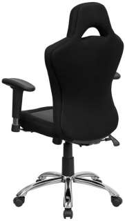 Race Car Inspired Bucket Seat Office Chair in Gray & Black Mesh