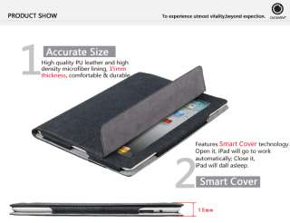 GGMM The New iPad 3rd Gen Magnetic Smart PU Leather Cover Case