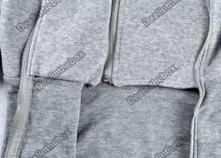 Korea Hoodie Jacket Coat Warm Outerwear hooded Zip New
