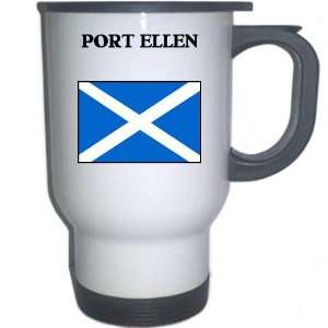 Scotland   PORT ELLEN White Stainless Steel Mug