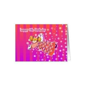 7 years old Angel or Fairy Magic Happy Birthday Card Card