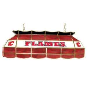 NHL Calgary Flames Stained Glass 40 inch Lighting Fixture Electronics